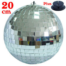 Glitter Disco DJ Party Stage Mirror Ball Silver Diameter 20cm + Spinning Motor