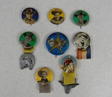 Lot of 8 Western Cowboy Pinbacks - Pins - Buttons