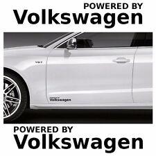 2x Powered by Volkswagen 20x4cm Aufkleber Car Window Bumper Sticker Vinil 220