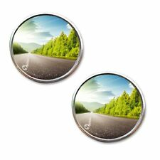"Zone Tech 2"" Round Stick On Rear-view Blind Spot Convex Wide Angle Mirrors Car"