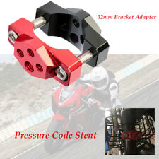 CNC Motorcycle Pressure Code Stent Bumper Bar Mount Base Clamp M8+M6 Adapter