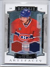 JACOB DE LA ROSE Canadiens 2015/16 Artifacts Rookie #176 Dual Jersey RC /399 SP