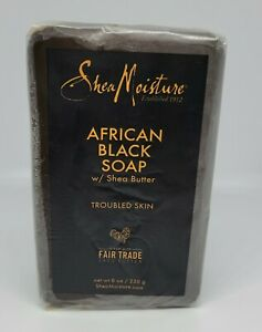 Shea Moisture African Black Soap Bar w Sea Butter 8oz Severely Dry Troubled Skin