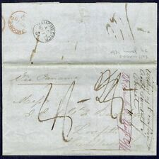 CHILE TO GB UK STAMPLESS FOLDED LETTER 1861 VALPARAISO - LINFITTS #2