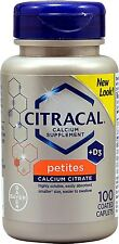 Citracal Petites Tablets With Vitamin D 100 Tablets (Pack of 5)