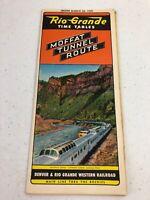 1950 Rio Grande Railroad Time Tables Pamphlet Brochure