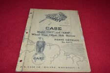 Case Tractor Xrt Xrh Disk Harrow Parts Book Manual Yabe14