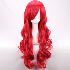 Anastasia Costume Wig Womens Female Long Wavy curly Red Cosplay Wigs +a wig cap