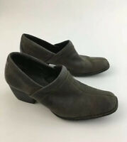 BORN Suede Boot Clogs Mule Heel Leather Slip On Shoes WOMENS Sz 7.5 M Brown