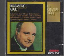CD ♫ Compact disc **BENIAMINO GIGLI ♦ LE GRANDI VOCI ♦ ARIE ♦ FREQUENZ** usato