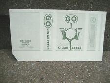 Vintage Go Cigarette Tobacco Packaging Label....Traffic Light Graphics