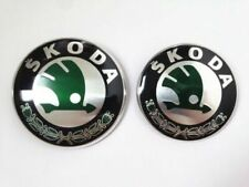 For Skoda Boot Bonnet Front Back Emblem Badge Symbol Logo 90mm 80mm set