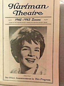 HARTMAN THEATRE, COLUMBUS OHIO-1962-63 SEASON-PROGRAM W/ANNIE FARGE COVER