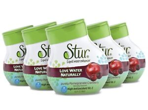 Stur SugarFree Pomegranate/Cranberry Water Enhancer (5 Bottles -FREE SHIPPING)