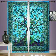 Tree of Life Indian Mandala Hippie Cotton Window Door Curtains Drapes Wall Decor