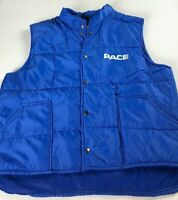 Pace Vest VTG Jacket Mens Large Short Blue Light Puffer Coat Sleeveless USA Made