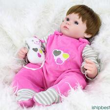 45CM Lifelike Newborn Silicone Vinyl Reborn Gift Baby Doll Handmade Reborn Dolls