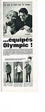 PUBLICITE ADVERTISING 014   1963   OLYMPIC   vetements de ski