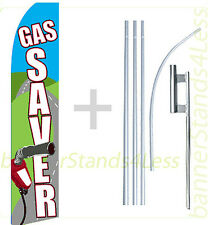 Feather Flutter Swooper Tall Banner Sign 15' Super Flag Kit- Gas Saver gf