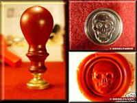 SIEGELSET TOTENKOPF Skull scull Siegel Petschaft 3d Handarbeit Siegelstempel NEU