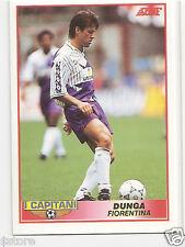 RARE '92 SCORE CAPTAIN CARD OF BRAZILIAN 'DUNGA' WITH FIORENTINA - ITALY IN NM/M