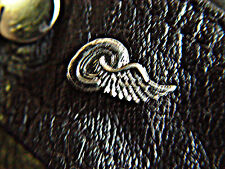 Small Winged Wheel Classic Vintage Old School Motorcycle Pewter Biker Pin 1137b