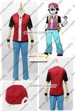 Pokemon Trainer Red Cosplay Costume