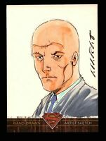 Superman: The Legend 2013 Cryptozoic DC Comics Sketch Card by Marat Mychaels