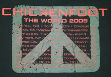 Chickenfoot 2009 Medium T Shirt The World Tour Concert Hagar Satriani Black OOP