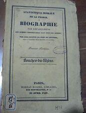 Statistique morale de la France ou Biographie, Bouches-du-Rhône, 1829