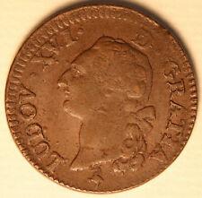 1791 France Sol KM 578.1 - copper coin - Louis XVI