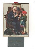 1936 Antique Calendar Edwardian Doctor & Doll Norman Rockwell Litho Child Print