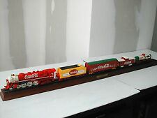COCA-COLA LOCOMOTIVE + 4 WAGONS THE FRANKLIN MINT 1999 NEUF SANS SON EMBALLAGE