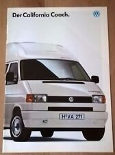 VW T4 Westfalia California Coach Motorhome / Camper Original Sales Brochure