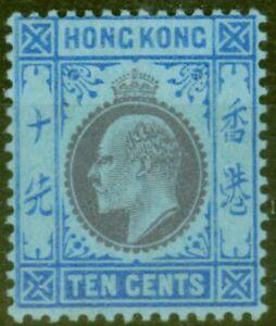 Hong Kong 1905 10c Purple & Blue-Blue SG81 Fine Very Lightly Mtd Mint