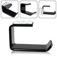 NEW Headphone Stand Hanger Tape Hook Under Desk Headset Holder Mount Acrylic