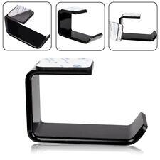 NEW Headphone Stand Hanger Tape Hook Under Desk Headset Holder Mount Acrylic