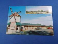 MOTEL AU PETIT LAC POSTCARD QUEBEC CANADA OLD PHONE OLD CARS