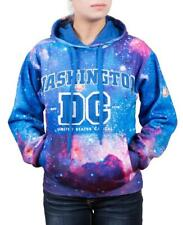 Hoodie Galaxy Washington DC Blue Sweatshirt Embroidered Letters Unisex size L