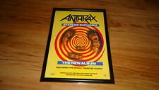 ANTHRAX state of euphoria-framed original press release promo poster