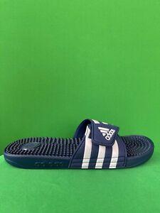 Adidas Sliders Adissage Mens Dark Blue Beach Flip Flops Sandals F35579