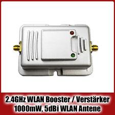 1000mW WLAN Booster / Verstärker | 2.4 GHz, 5dBi WLAN Antenne, 30dBm TX Power