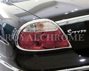EXPRESS Pair CHROME Rear Tail Light Trims for JAGUAR S Type 04-08 Facelift LCI