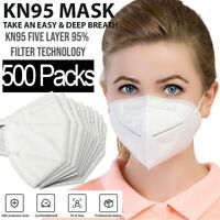 KN95 Protective 5 Layers Face Mask [500 PCS] BFE 95% PM2.5 Disposable Respirator