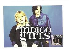 POSTCARD  -  INDIGO  GIRLS   Shaming of the Sun - never used  - Tower Records