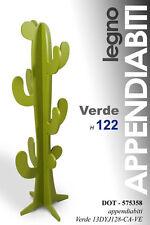 ALBERO APPENDIABITI CACTUS H122 LEGNO ATTACCAPANNI MODERNO VERDE OFFERTA 575358