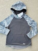 NWT UNDER ARMOUR ColdGear Girls Fleece Lined Pullover Hoodie Gray SELECT SIZE