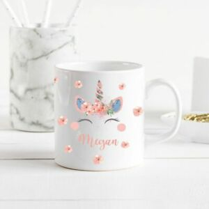 Personalised Unicorn Mug/Cup Tea Coffee Gift Any Name Cute Hers Xmas Present