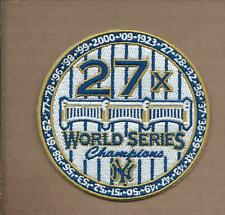 NEW 3 1/2 INCH NEW YORK YANKEES 27X CHAMPIONS IRON ON PATCH FREE SHIPPING P1
