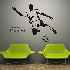 We Are Champion Sports Wall Sticker Vinyl Decal Football Soccer Boy Kids Room